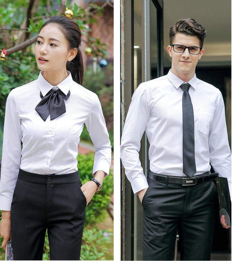 �V州定做正式白色�L袖�r衫-�V州白云�^�做男女款正式白色�r衫-修身版型