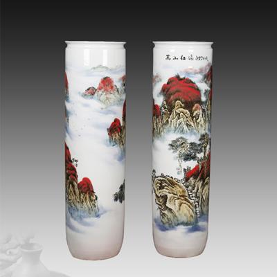 景德镇陶瓷大花瓶生产厂家青花花瓶图片
