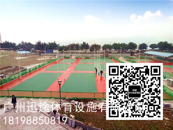 重庆忠县游泳馆 硅PU优质材料 迅途体育专业厂家