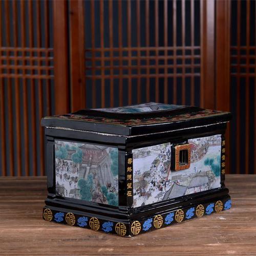 景德镇陶瓷骨灰盒厂家骨灰盒定制图片