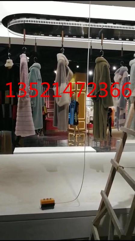 北京海洁斯牌电动旋转衣物服装展示架