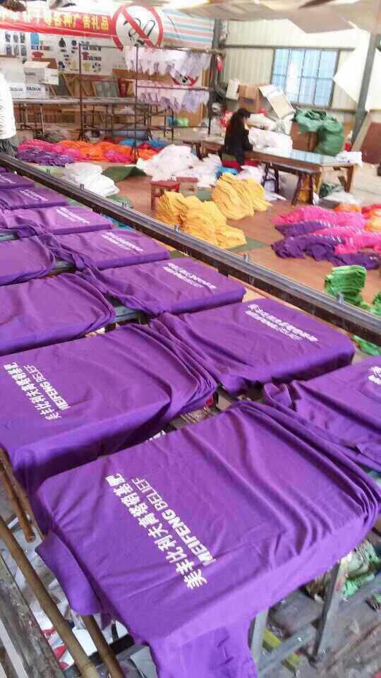 昆明t恤衫批发,广告衫丝网印刷,团队服彩色印图案
