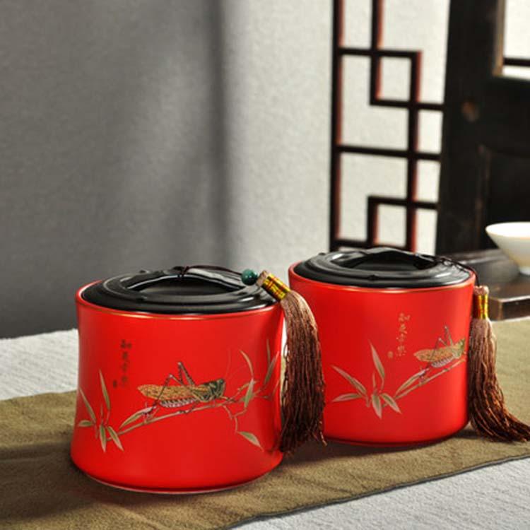 红茶绿茶储茶罐 干果糖果密封罐 茶叶包装盒回礼开业庆典礼品