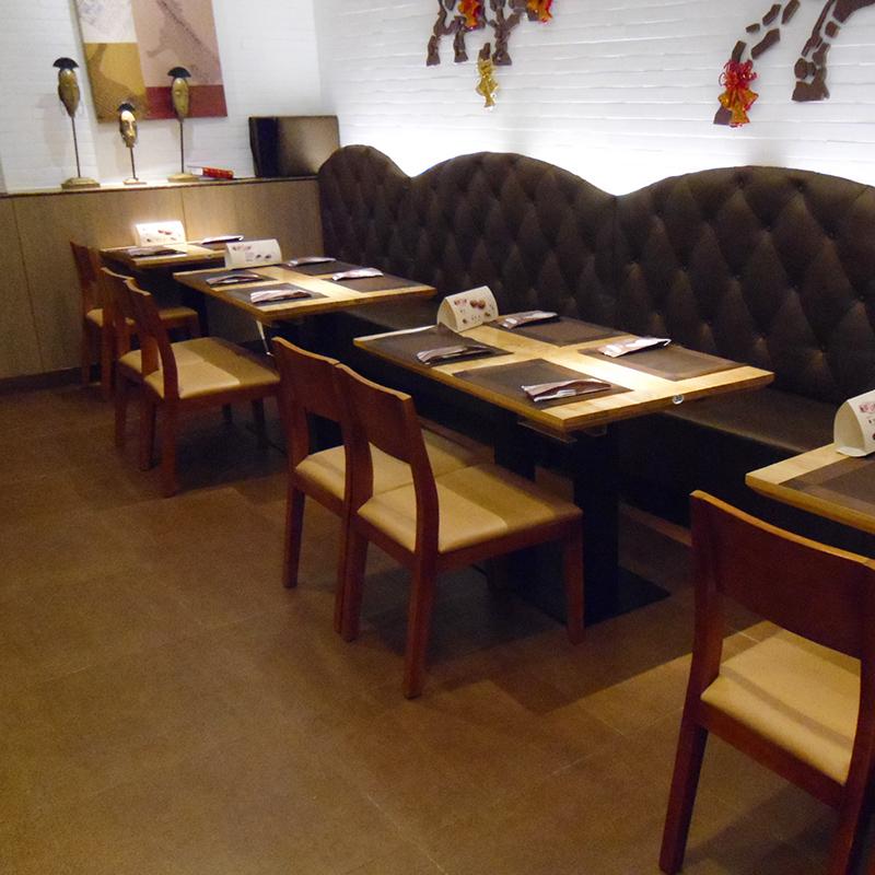 厦门欣百恒家具主题西餐厅餐桌餐椅卡座全店整装定制