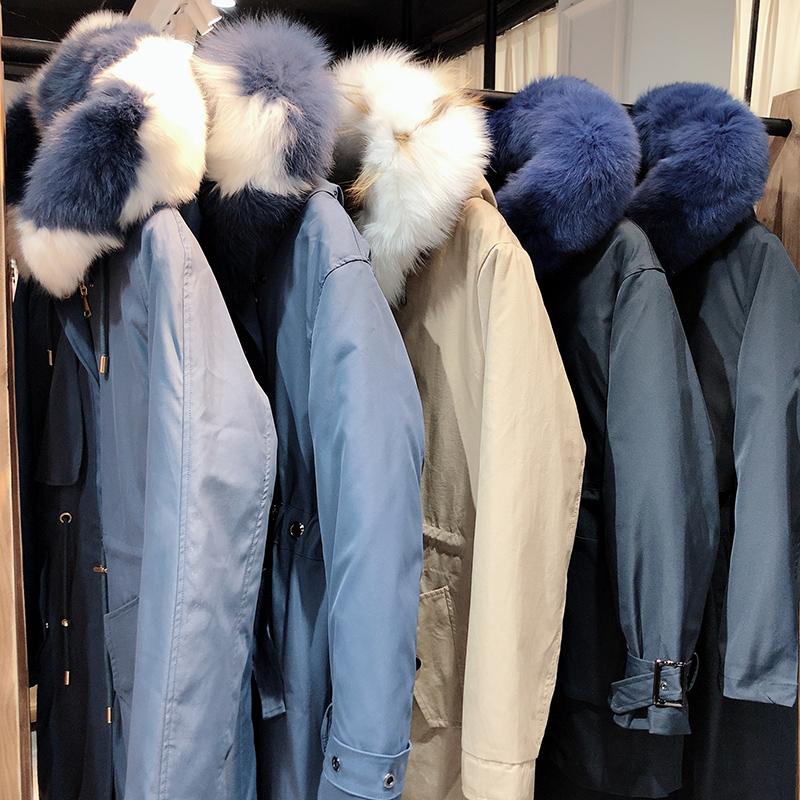 蒂尔斯19年冬季皮草防寒保暖派克服品牌折扣女装货源
