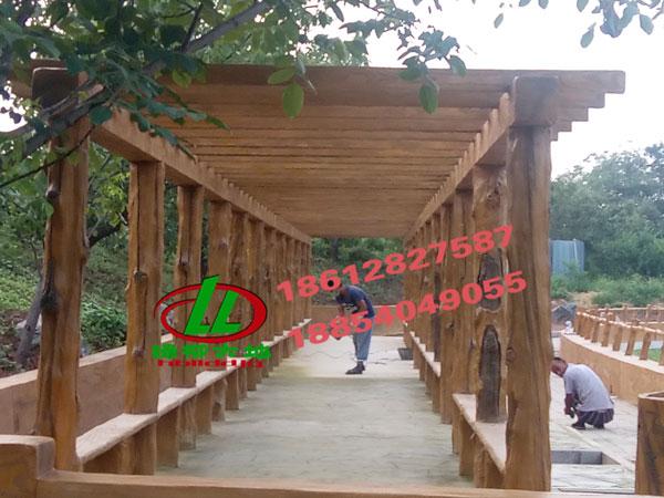 仿木花架,仿木�L廊,水泥仿木花架,仿木水泥花架