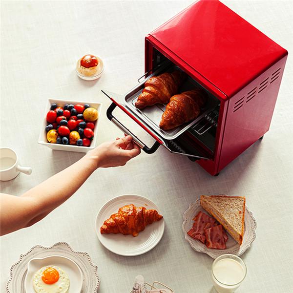小智自动电烤箱炉 便携式烧烤炉煎烤�h煮一锅包揽