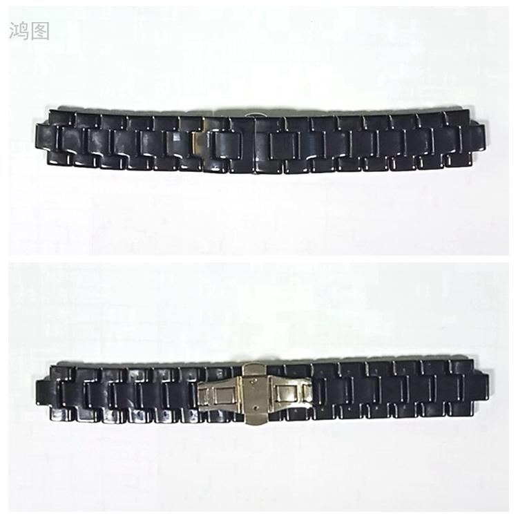 东莞陶瓷表带配件适配A玛尼手表表带21.5*9.5加工
