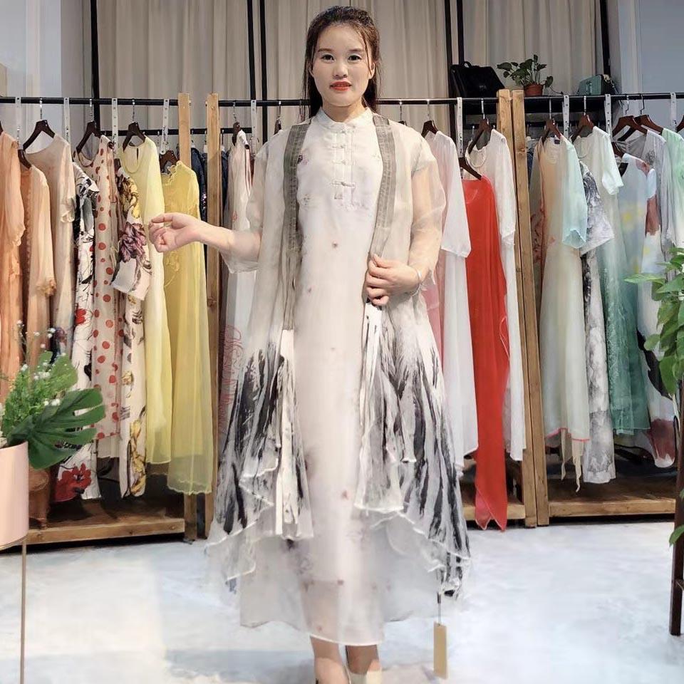 恩妮�z2020春季女�b新款真�z�Q�z�B衣裙品牌折扣女�b�源批�l