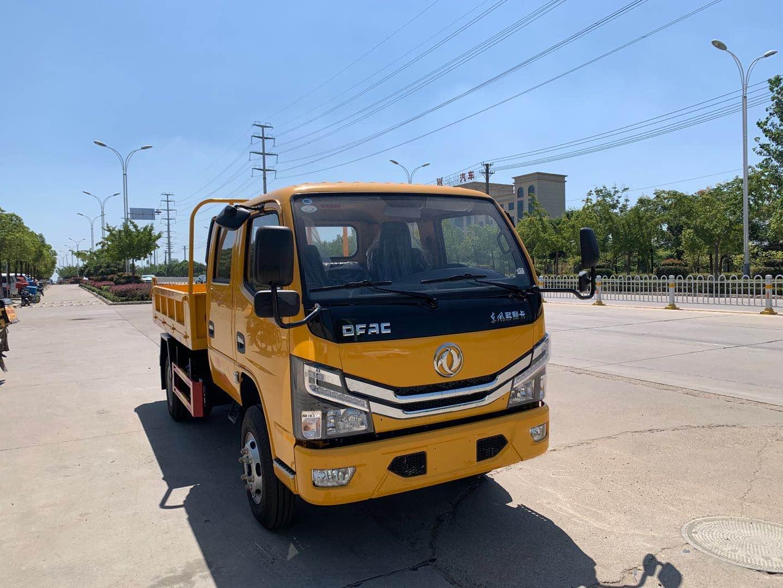东风国六双排座自卸车