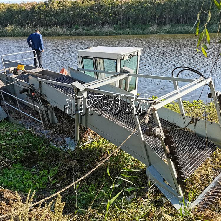 江苏水面水葫芦收割船 水花生打捞船 槐叶萍水草收割船 水面漂浮打捞清理船