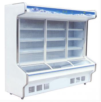 常州雪牌1.5米豪华款点菜柜 前面采用中空玻璃、风幕拉帘