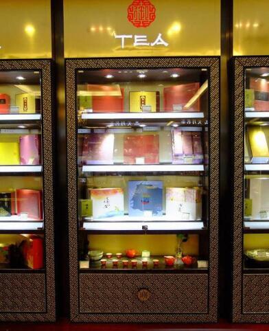 厦门红酒展示柜不规整陈列设计柜台定做