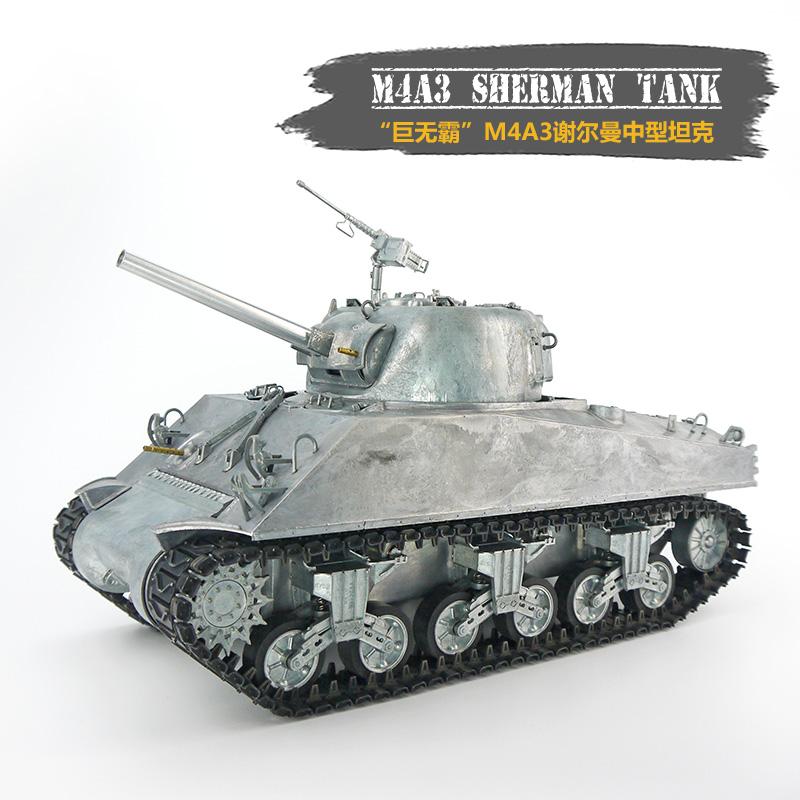 RC 美国M4A3谢尔曼116 中型仿真坦克模型