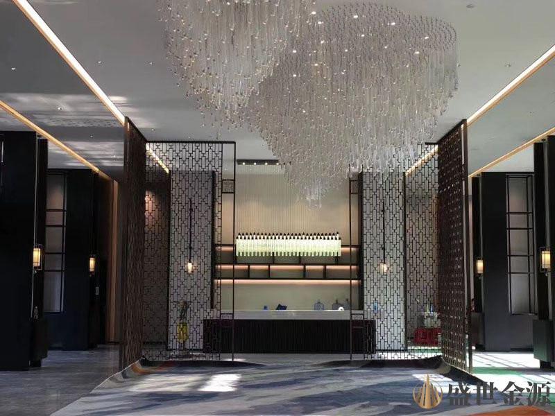 惠州酒店黑钛不锈钢隔断屏风
