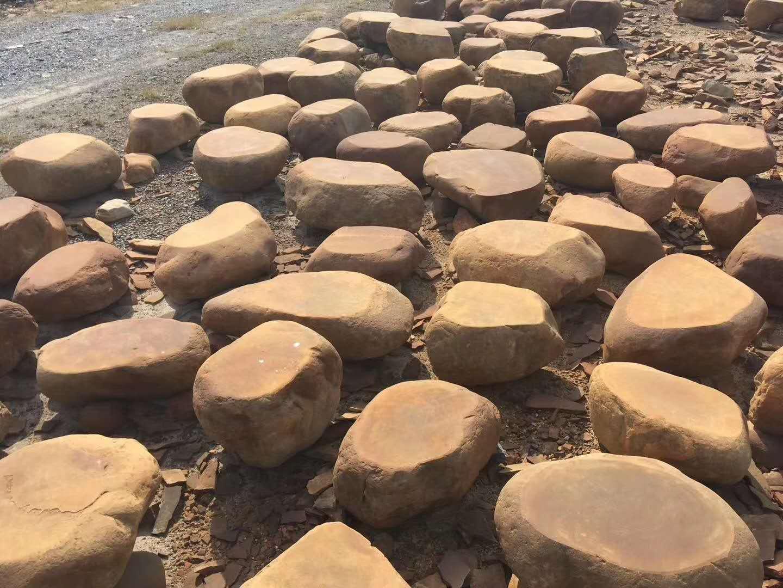 黄蜡石厂家大量直销平台石 一手货源