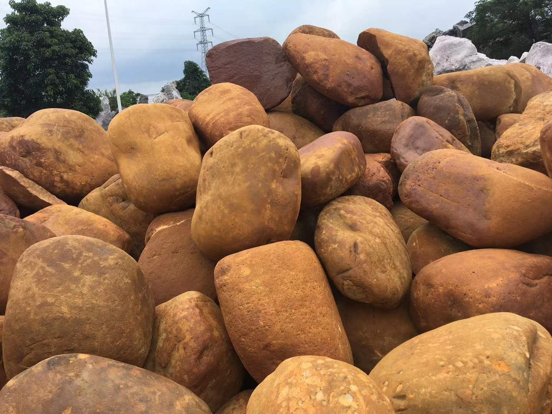 批发园林园艺吨位黄蜡石自然奇石