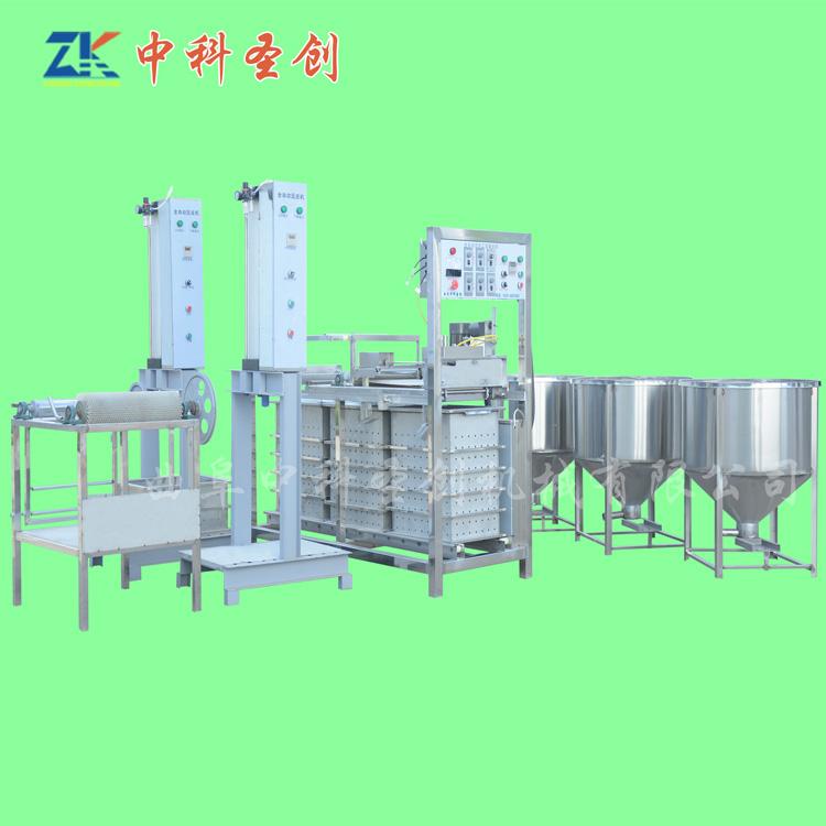 不锈钢仿手工豆腐干机设备 防城区仿手工豆干机 自动豆干成型机