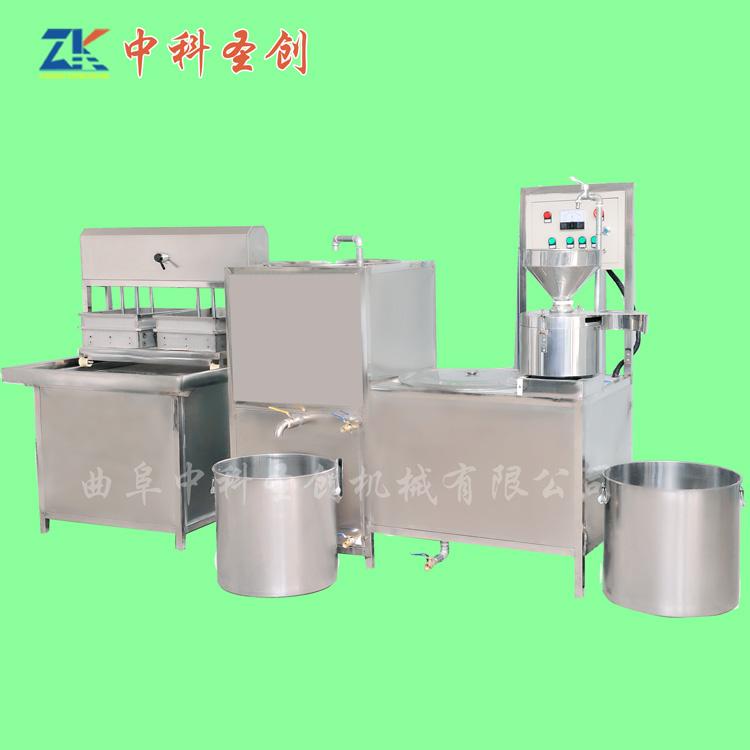 家用大豆腐生产线 灵山县大豆腐生产线 自动多盒豆腐机
