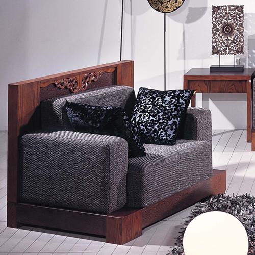 广东中式新古典家具,榆木家具,实木沙发