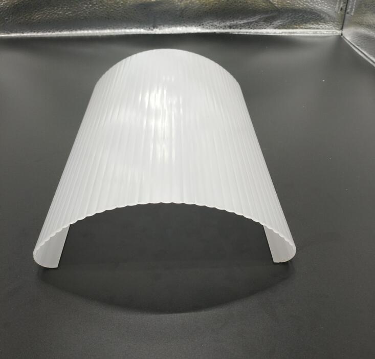 大型pmma亚克力灯罩 磨砂扩散乳白色pc灯罩 led挤出塑料灯罩定制