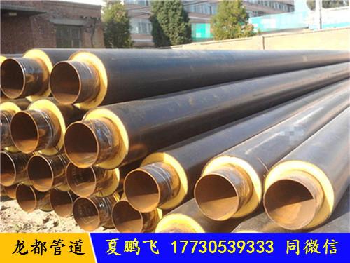 塑套钢预制聚氨酯保温螺旋钢管