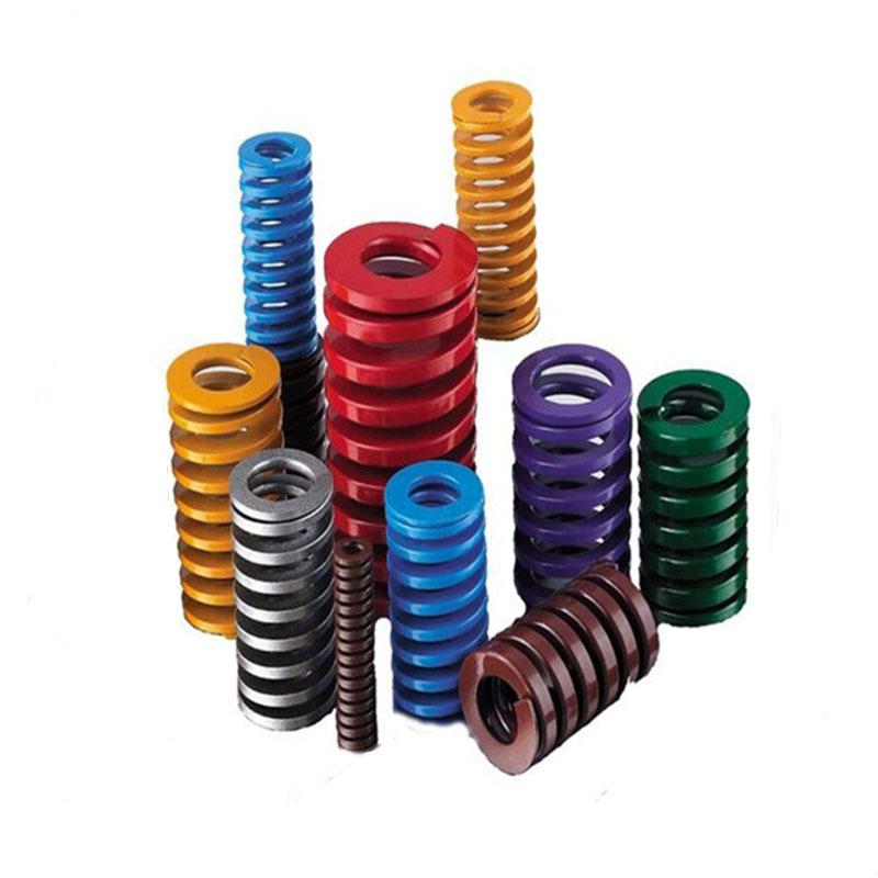 批发进口日标矩形弹簧 合金钢压缩扁线弹簧 冲压注塑矩形螺旋弹簧