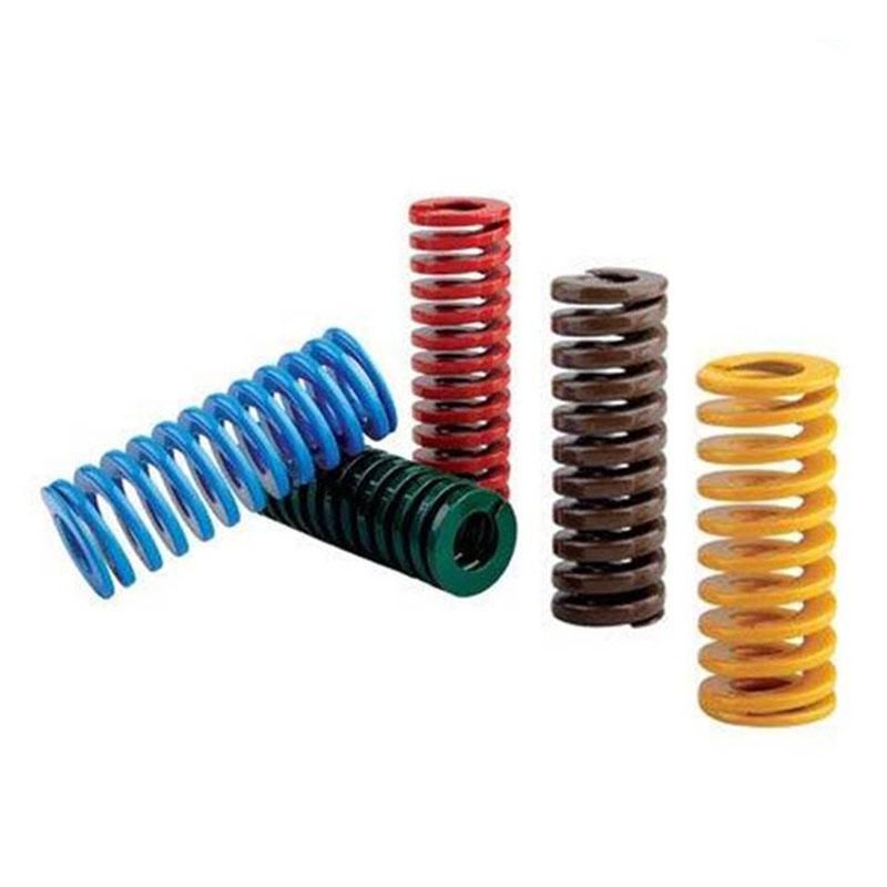 批发国产65MN模具弹簧|矩形弹簧|黄蓝红绿棕茶色弹簧|压缩弹簧钢|模具配件