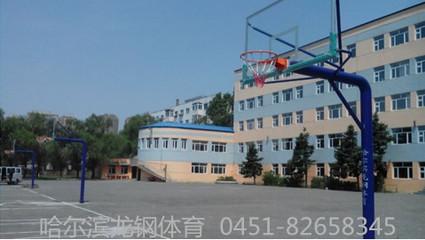 篮球架-学校篮球架-立式直埋篮球架