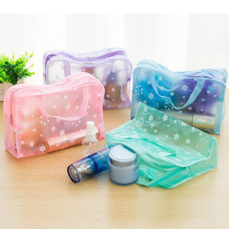 深圳青青青免费视频在线批发透明PVC化妆包可手提、价格实惠