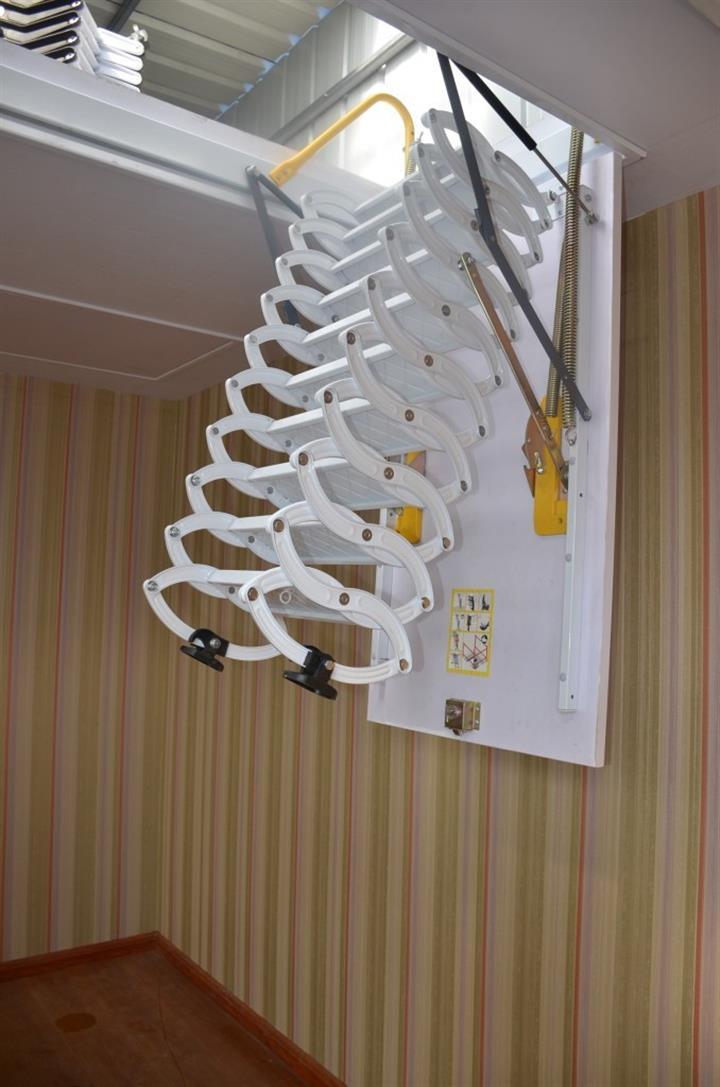 天津市伸缩楼梯专卖 伸缩楼梯厂家 安装拉伸梯
