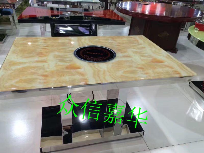 天津办公家具直销玻璃钢连体餐厅餐桌椅餐桌椅定做