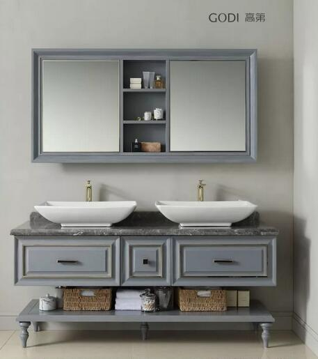 高第浴室柜新美式风格浴室柜