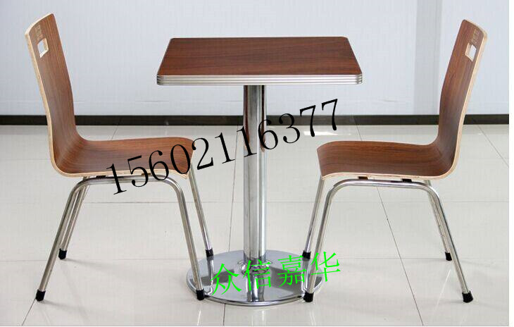 天津定做餐厅连体桌椅小吃城餐桌椅快餐店餐桌椅