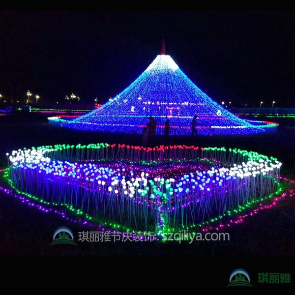 LED灯光节灯展灯会 大型LED彩灯展铁艺灯光造型