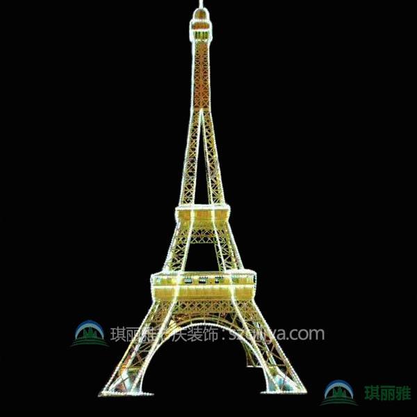 节日装饰巴黎埃菲尔铁塔大型仿真摆件
