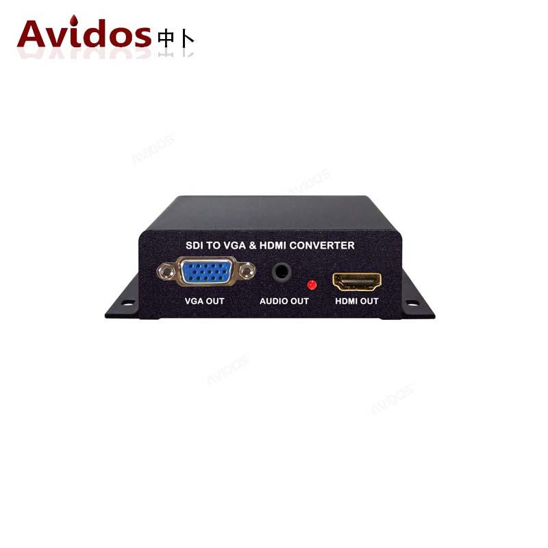 中卜 3G/HD SDI转HDMI VGA 全高清视频转换器 支持变频 AD-SV160