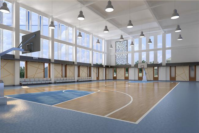 天津室内篮球场地塑胶地板装修施工