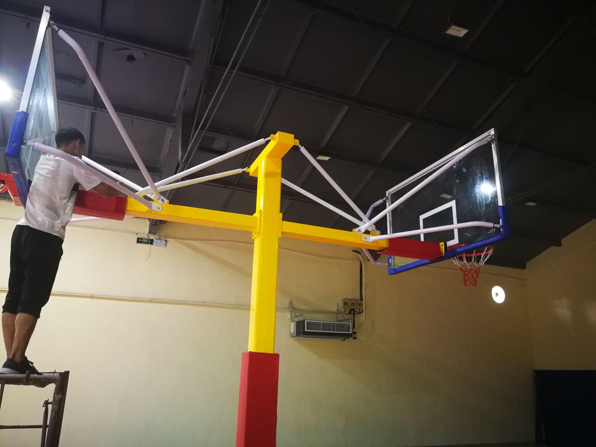 天津篮球架专卖地埋海燕式篮球架送货安装