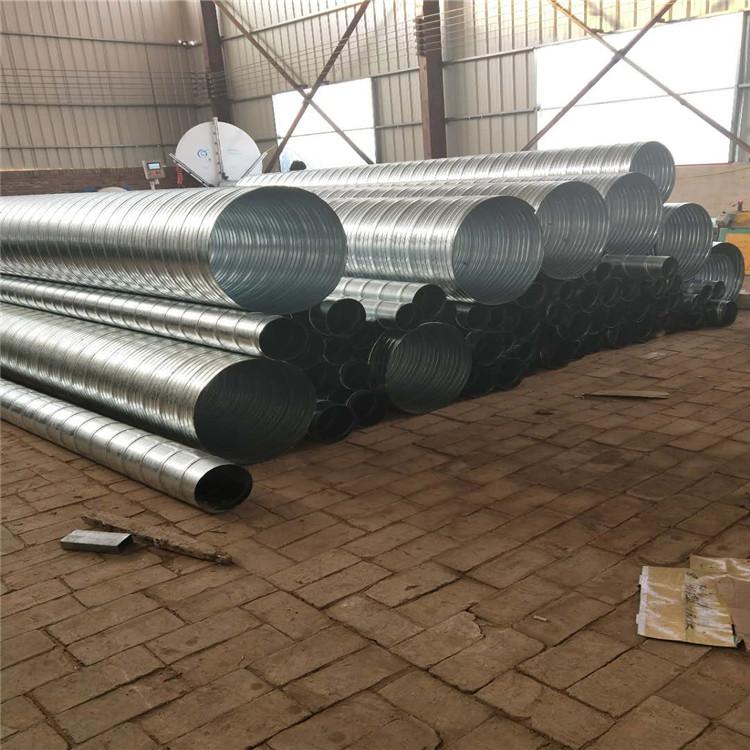 供应直径600镀锌管 螺旋镀锌管道  白铁皮管道