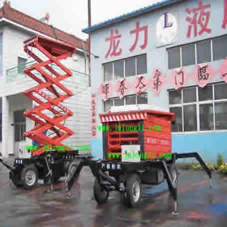 14米18米22米移动式液压升降机 山东移动升降工作台 电动液压平台