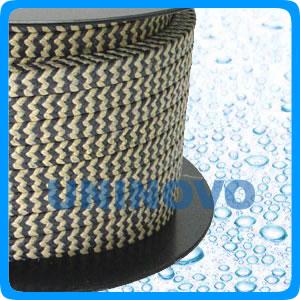 芳纶交织黑四氟盘根(斑马纹混编)、高强度优质压缩盘根