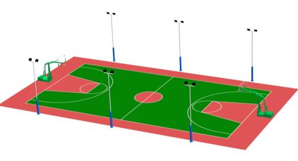 详谈篮球场施工铺装工艺流程