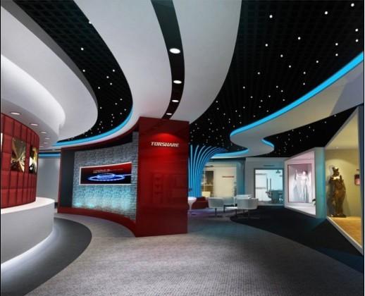 深圳石岩专业照明展厅设计施工