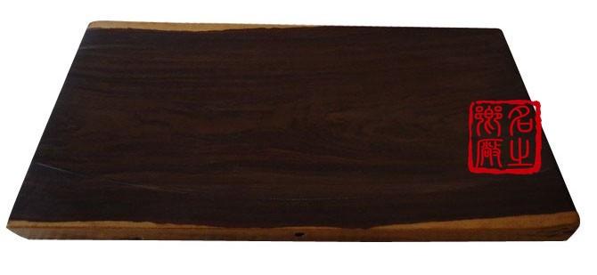黑檀木平板茶盘弧形ht-006