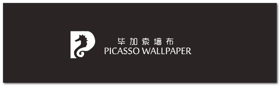 毕加索欧式花墙布图