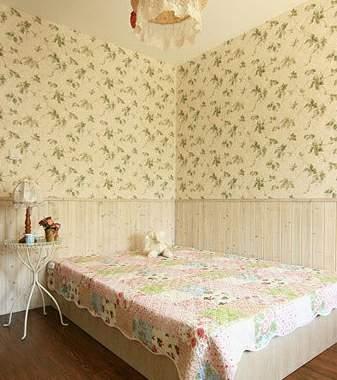 白色壁布欧式花纹图片